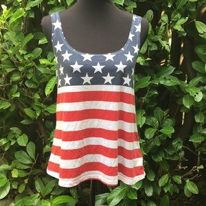 Tops - American Flag tank top.  Size small